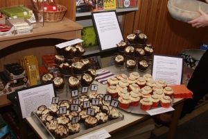 3, count them, 3 kinds of themed cupcakes! Courtesy of Liz Hardcastle baking goddess!